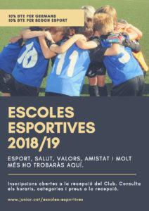 escoles esportives 2018/19